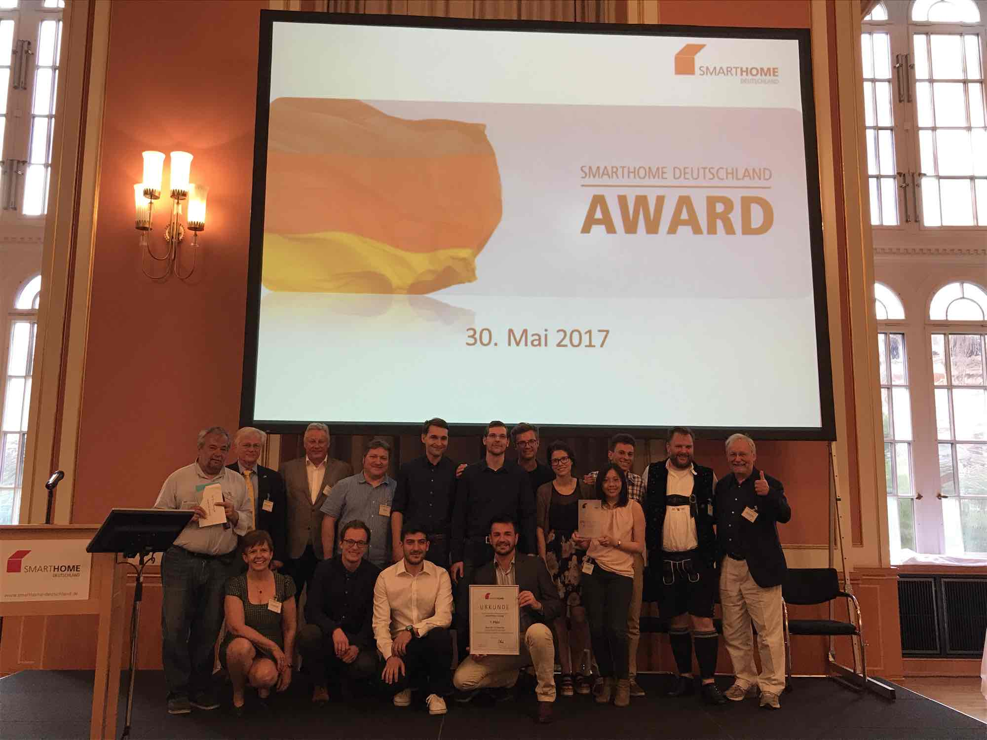 iPraktikum Team got First Place at SmartHome Deutschland Award 2017