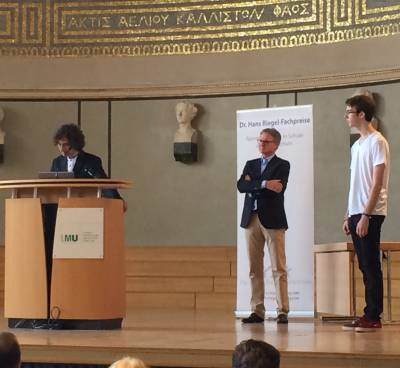 First prize for computer science of Hans Riegel Stiftung