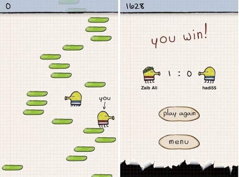 Example application: Doodle Jump